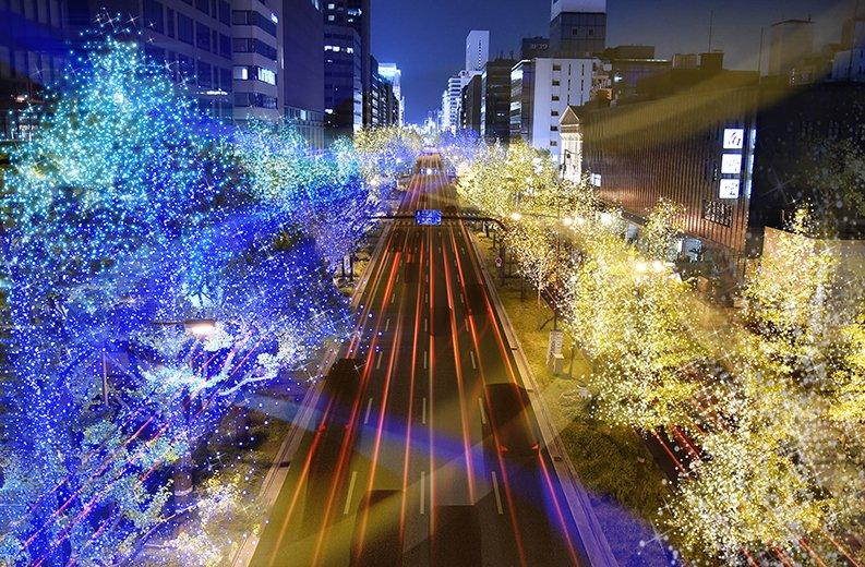 大阪を訪れる人々を優しく包み込む光のシンボルストリート 御堂筋イルミネーション2018