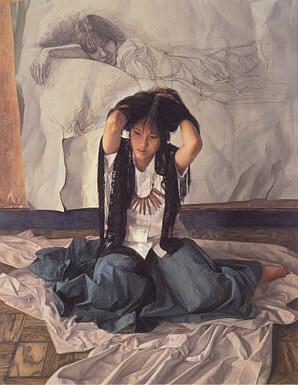1995年「跡」F50 キャンバス、エマルジョン地、油彩