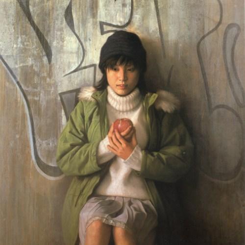 2000年「聴」S25号 パネル、白亜地、油彩