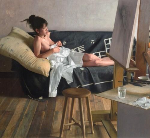 「休息」F100号 キャンバス、エマルジョン地、油彩