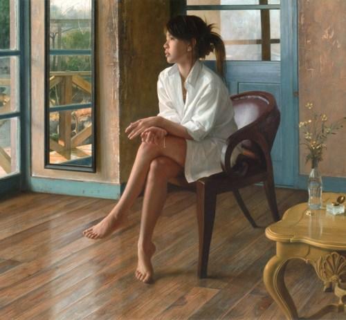 2008年「昨日の雨」F100号 キャンバス、エマルジョン地、油彩
