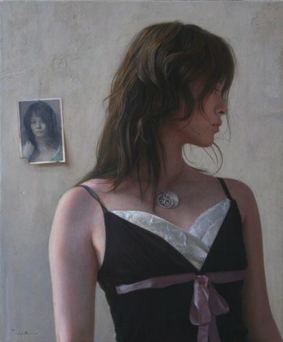 2008年「  」F10号 パネル、白亜地、油彩