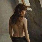 2012年「窓」S20号、パネル、白亜地、油彩