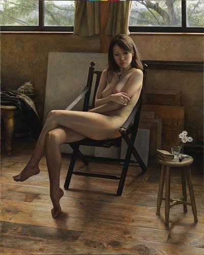 2014年「画室」F100号 キャンバス、白亜地、油彩