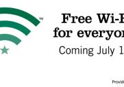 スターバックス、7月1日から無料Wi-Fiサービスを開始
