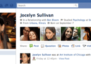 Facebookの新しいプロフィールページがお目見え