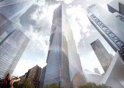 四角い箱を積み上げたような「2 World Trade Center」のレンダリング画像