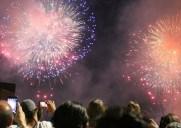 独立記念日に花火を見ました!