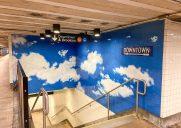 オノ・ヨーコが制作した青空のモザイク画「Sky」