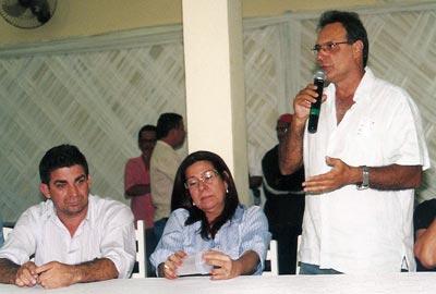 Dalton Borges, a esposa Rosangela e o cunhado Pitico.