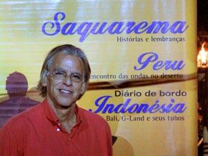 Rossini Maraca na festa de lançamento da revista Soul Surf. Foto: Marie Hawk.