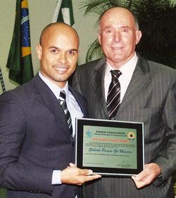 O presidente José Carlos Cabral e o provedor da Irmandade N. Sra. de Nazareth, Dr. Danilo Coutinho.