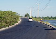 O asfalto vai ligar a Ponte do Girau à Mombaça e à Barreira