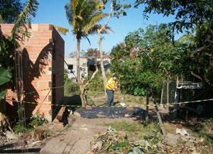 A área do sambaqui foi cercada  pela Defesa Civil, para proteger  o patrimônio histórico-cultural