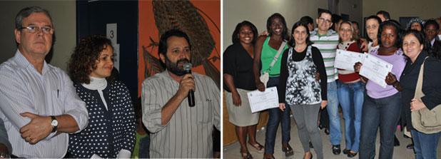 O vice-prefeito Dr. Amílcar, a prefeita Franciane e o secretário Zezinho Amorim saudaram os formandos. Fotos: Agnelo Quintela