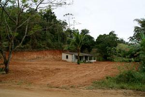 Terreno onde será construído o novo galpão de reciclagem