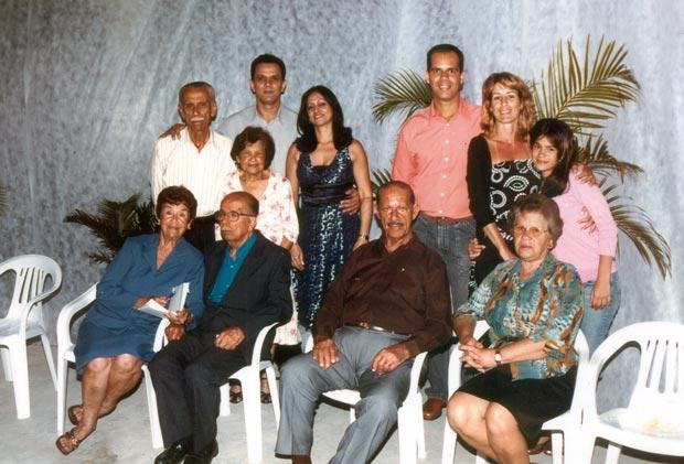 Edilson Costa, Paulo Cazagrande, Lucio Nunes (neto), Ezio Costa, Simeão Nunes e famílias
