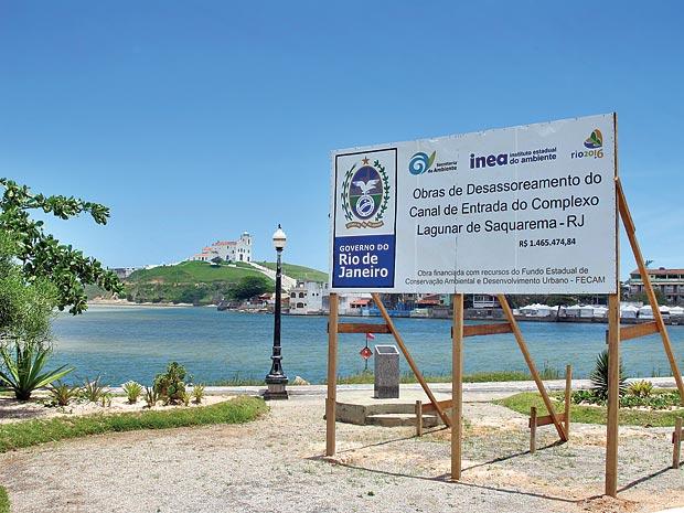 Vai começar uma dragagem emergencial na Lagoa de Saquarema. (Foto: Edimilson Soares)