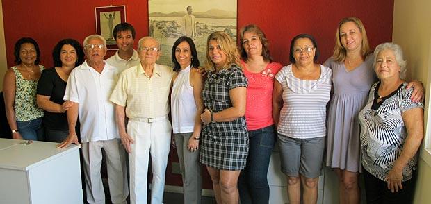A competente equipe do IBASS junto com o presidente Jurandir Melo, todo de branco. (Foto: Edimilson Soares)