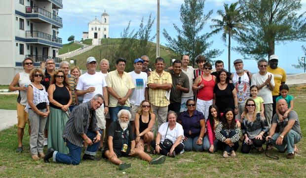 Churrasco de confraternização reuniu jornalistas e diretores do Bloco do Truco. (Foto: Agnelo Quintela)