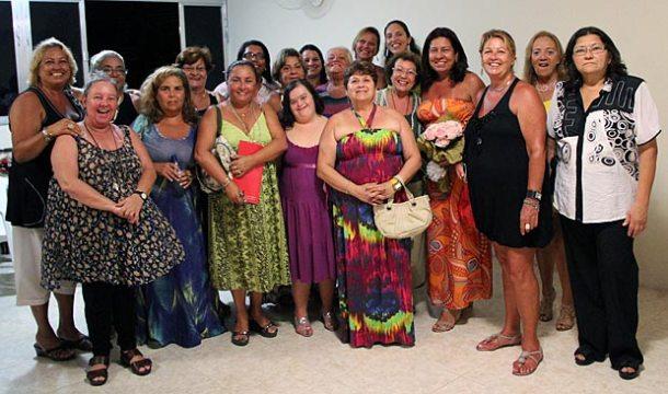 As mulheres da AMEAS na inauguração da nova sede no Porto da Roça. (Fotos: Edimilson Soares)