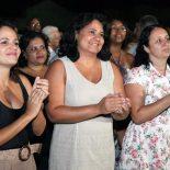A prefeita Franciane e a secretária Ana Paula na inauguração em Ipitangas. (Fotos: Waldo Siqueira / Ascom PMS)