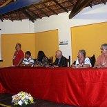 A mesa, na abertura do Congresso dos jornalista, assiste a palestra do jornalista especializado em meio ambiente Vilmar Berna e suas propostas inovadoras. (Foto: Edimilson Soares)