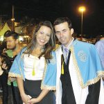 Os organizadores da festa, juíza Márcia Azeredo e o provedor Hudson Martins. (Foto: Paulo Lulo)