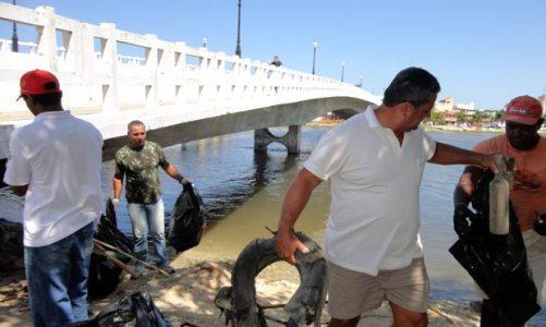 Mais um mutirão de limpeza na Lagoa de Saquarema