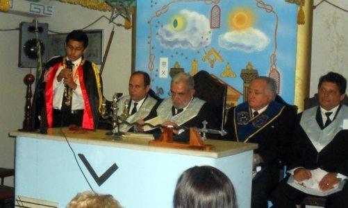 Presidente reempossado na Loja Novo Horizonte