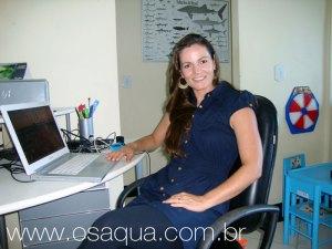 A oceanógrafa e empresária Andreia Montibeler foi vítima de ataque em Itaúna.