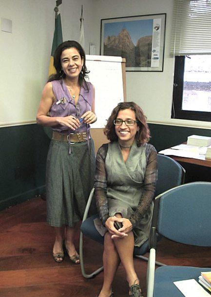 Em reunião no Instituto Estadual do Ambiente, Karla Matos e Rosa Formiga receberam os coordenadores dos Fóruns Locais das Agendas 21. (Fotos: Dulce Tupy)