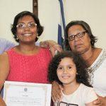 A vereadora Adriana com o marido Vander, a filha Keyla, a mãe e uma de suas irmãs