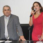 O vice Zequinha Martins, empresário, e a prefeita Franciane Motta, professora