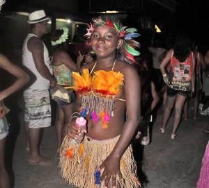 Indiazinha do Bloco do Sambaaqui de Jaconé (foto: Edimilson Soares)