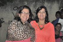 As secretárias da Mulher, Rosângela Borges,  e de Promoção Social,  Elísia Rangel