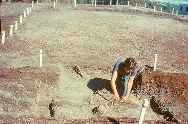 Etapa das escavações no Sambaqui da Beirada, em 1987 (fotos: Willian Borba)