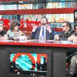 O veterano astro do rock foi a sensação do Programa Agora é Tarde, da Band