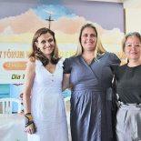 A endocrinologista Dra. Simone, a nutricionista Dra. Vanessa e a enfermeira Soninha, do Programa Hiperdia de Saquarema (Foto: Edimilson Soares)