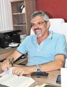 O presidente tranquilo  em seu novo gabinete (Foto: Edimilson Soares)