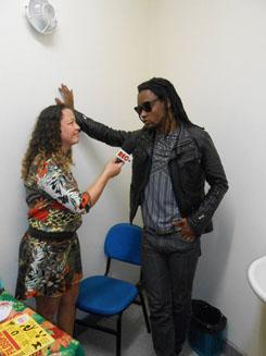 Toni Garrido deu entrevista ao Saquá (Foto Telma Cavalcanti)