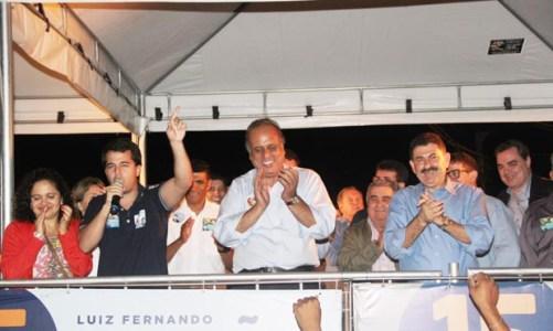 Pezão e Paulo Melo no Rio da Areia