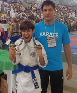 Saquaremense em grande fase no karate