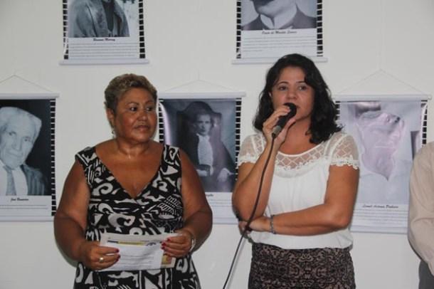 A superintendente Sandra Sant'Anna e a secretária Ana Paula Giri, anfitriãs da cultura (Foto: Edimilson Soares)