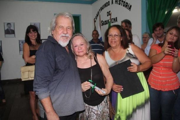 Nelsinho, Maria José e Neusa, amigos e parceiros na vida cultural de Saquarema há tantos anos...