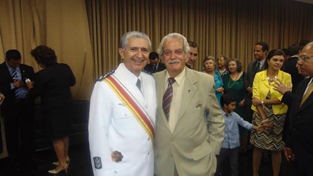 O Brigadeiro Willian e o Dr. Thramm (Foto: Arquivo Pessoal