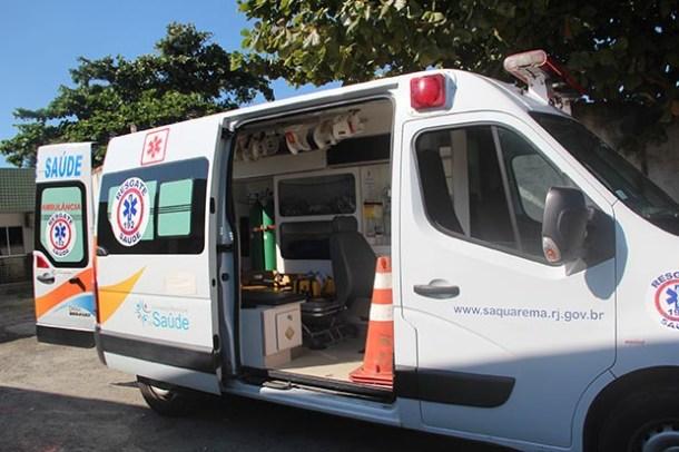 A ambulância bem equipada do resgate saúde (Foto: Edimilson Soares)