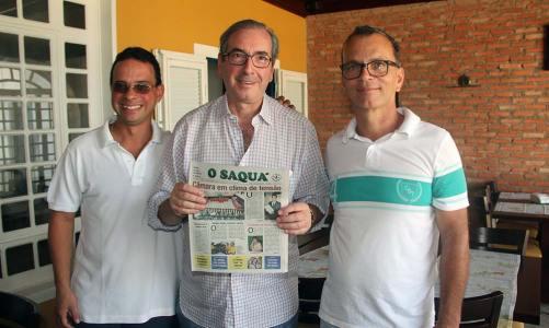 O presidente da Câmara dos Deputados, Eduardo Cunha, em visita a Saquarema, fala até da disputa presidencial