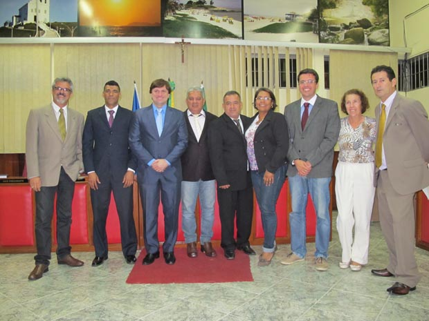 Integrando agora a bancada governista da Câmara Municipal, Bruno Pinheiro recebeu o apoio dos vereadores (Fotos: Edimilson Soares)