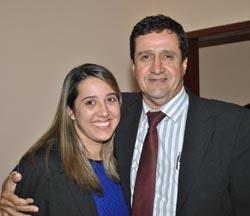 Os advogados, Marielle e João, neta e filho do Dr. Humberto Glória